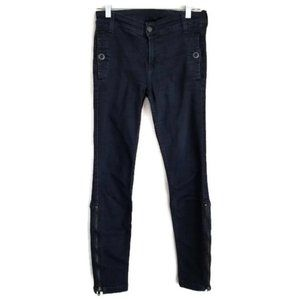 7 FOR ALL MANKIND BLUE JEANS WITH ANKLE ZIPPER